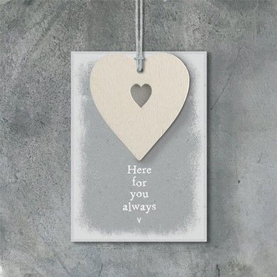 'Here for you always' hanging plaque