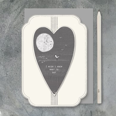 'I wish I knew what to say' card