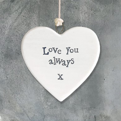 'Love you always'  heart
