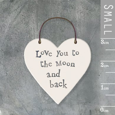 'Moon and back' wooden tag