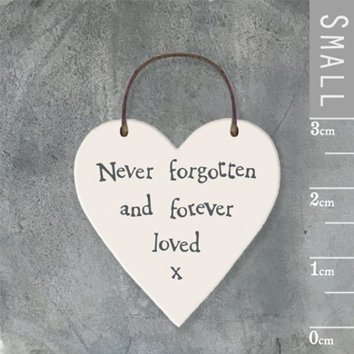'Never forgotten' wooden tag