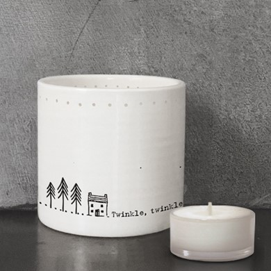 'Twinkle, twinkle' tealight holder
