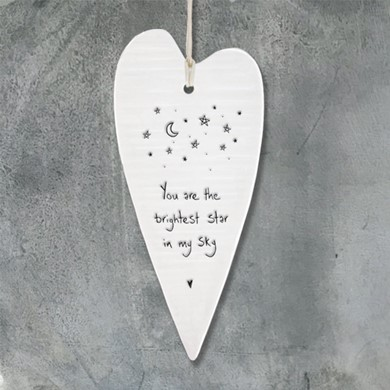 'You are the brightest star'  heart